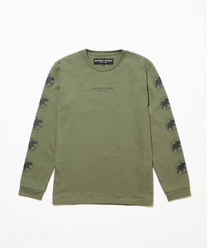11TS05 <新作> [ロングスリーブTシャツ] メンズ カーキ