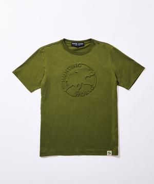 11BC02 ボルネオチャリティー<新作> [エンボス Tシャツ] メンズ カーキ