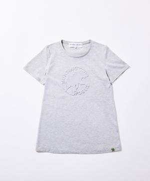 11BC52 ボルネオチャリティー<新作> [エンボス Tシャツ] ウィメンズ グレー