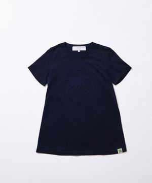 11BC52 ボルネオチャリティー<新作> [エンボス Tシャツ] ウィメンズ ネイビー