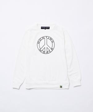 11BC04 ボルネオチャリティー<新作> [クルーネックスウェットシャツ] ユニセックス ホワイト