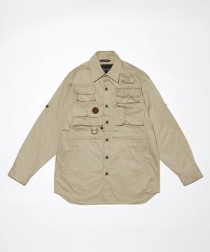 15LM03 <新作> [10ポケットハンティングシャツ] ベージュ