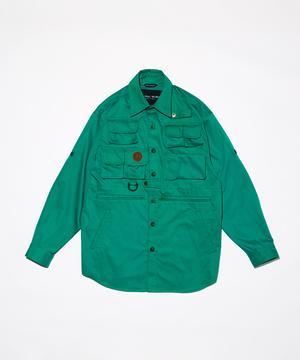 15LM03 <新作> [10ポケットハンティングシャツ] グリーン