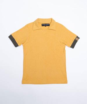 11PL01 <新作> [スキッパーポロシャツ] メンズ イエロー