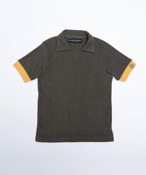 11PL01 <新作> [スキッパーポロシャツ] メンズ カーキ