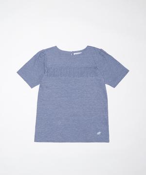 11TS51 <新作> [フリンジTシャツ] ウィメンズ ライトブルー