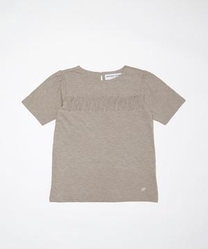 11TS51 <新作> [フリンジTシャツ] ウィメンズ ブラウン