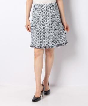 リントンカラーミックスツィードスカート