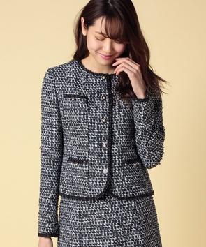 【セットアップ対応商品】エリザロゴツイードジャケット