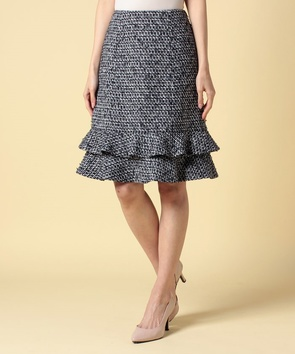 【セットアップ対応商品】エリザロゴツイードスカート