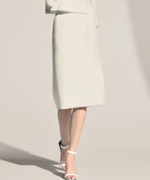 【セットアップ対応商品】トリアセテートダブルクレープ スカート
