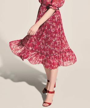 スモールフラワープリント スカート
