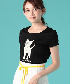 【ご自宅で洗える】【店舗限定】キャットプリントTシャツ