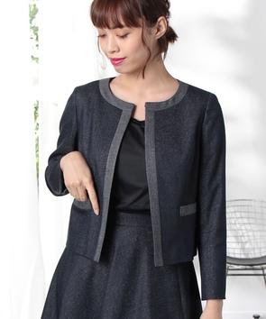 【セットアップ対応商品】ラメコットンシルクジャケット