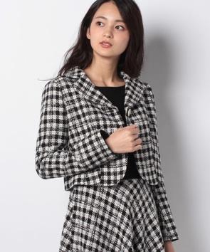 【セットアップ対応商品】カラーネップツィードジャケット