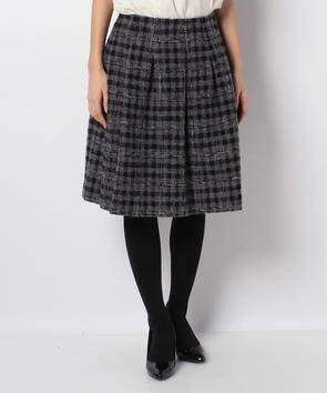 【セットアップ対応商品】カラーネップツィードスカート