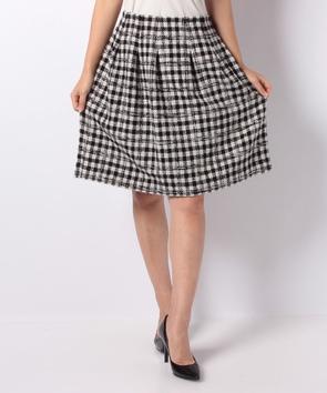 カラーネップツィードスカート