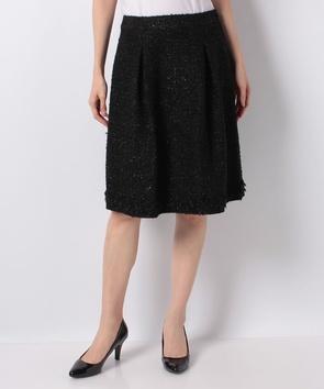 スパンコールファンシーツィードスカート