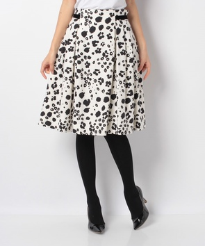 【セットアップ対応商品】ウールメルトンアニマルプリントスカート