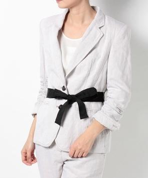 【セットアップ対応商品】リボンベルトテーラードジャケット