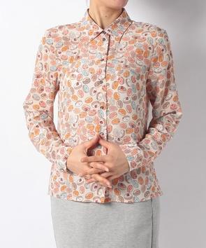 ドーナツ柄長袖シャツ