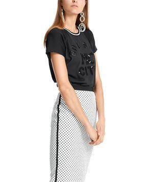 スパンコールロゴ半袖Tシャツ