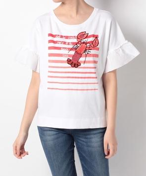 ロブスターモチーフ半袖Tシャツ