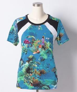 熱帯魚プリントTシャツ