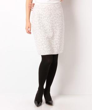 レオパード柄ニットタイトスカート