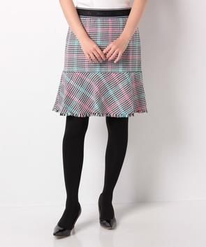 【セットアップ対応商品】千鳥格子柄スカート