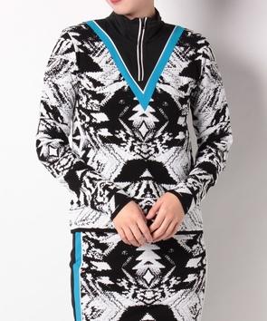 【セットアップ対応商品】ハーフジップセーター