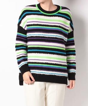 ボーダー柄セーター