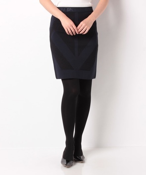 ロゴ×シャイニータイトスカート