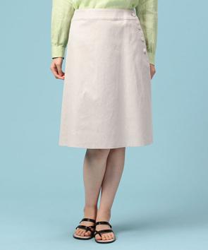 コットンリネンミニヘリンボーンスカート