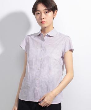 メランジヤーンチェックシャツ