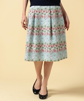 フラワージャカードスカート