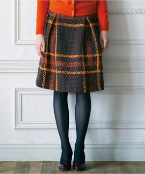 ビッグチェックツィードスカート