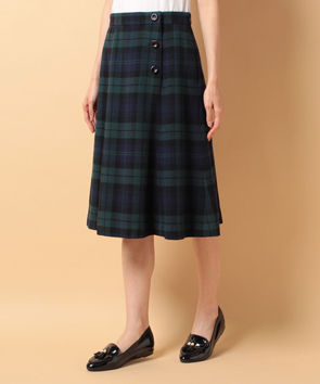 スーパー100SミルドチェックAラインスカート