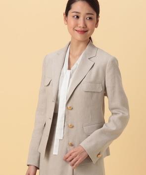 【セットアップ対応商品】リネンキャンバスジャケット