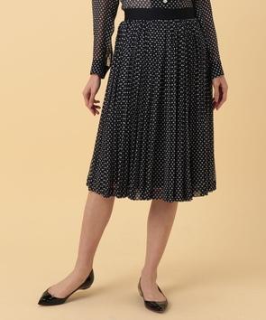 【セットアップ対応商品】楊柳ドットプリントスカート