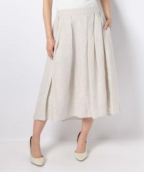 フレンチリネンロングスカート
