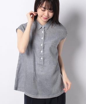 WEB限定【OEPP】ギンガムチェックスリーブシャツ
