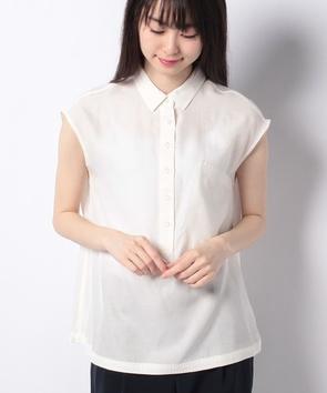 WEB限定【OEPP】キュプラコットンツイルノースリーブシャツ