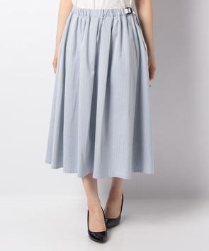 【WEB先行】シャンブレーストライプスカート