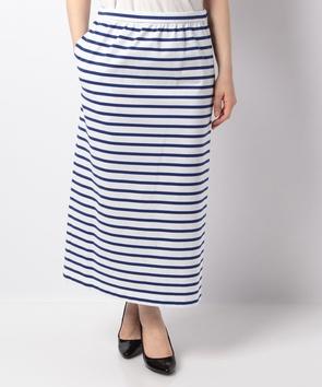WEB限定【OEPP】ギザコットンボーダースカート