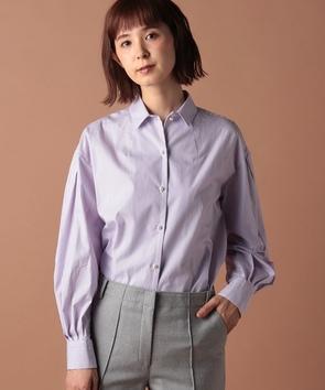ロンドンストライプワイドスリーブシャツ