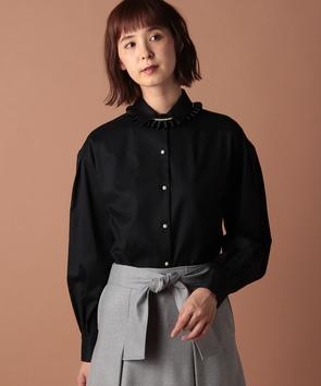 フランス綾ワイドスリーブシャツ
