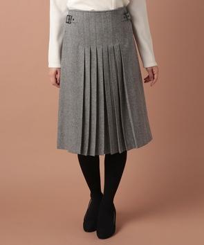 ワイドヘリンボーンスカート