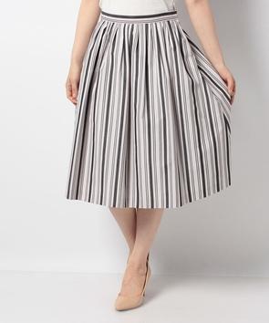 グログランストライプスカート