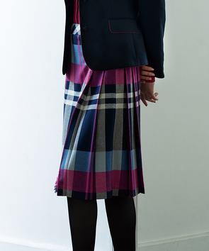 オリジナルチェックプリーツスカート